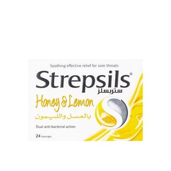 Strepsils Lozenges Honey & Lemon 24pcs