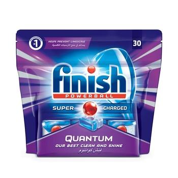 Finish Lemon Dishwasher Detergent Quantum Max Tabs 30s