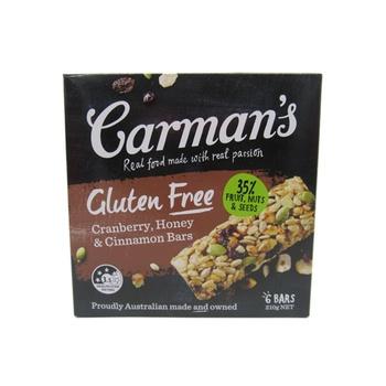 Carman'S Cranberry, Honey & Cinnamon Bars  Gluten Free 210g