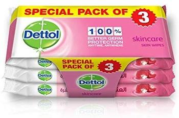 Dettol Sensitive Antibacterial Skin Wipes 10 Count Three Pack