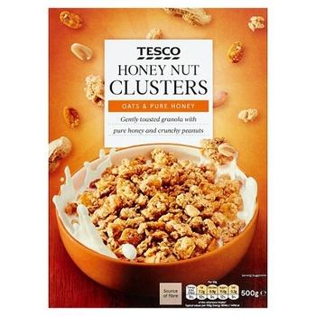 Tesco Honey Nut Clusters 500g