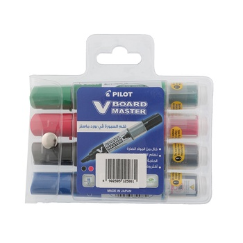 Pilot White board Marker 4 Pc pack