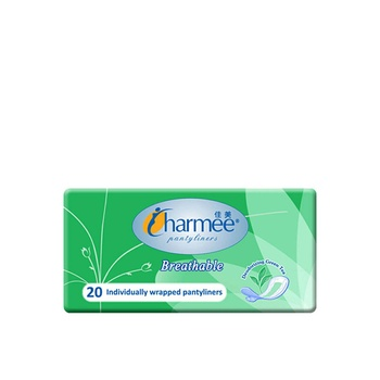 Charmee Pantyliners Breathable Deo Green Tea 20s