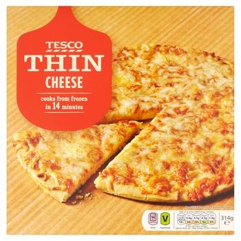 Tesco Thin Cheese Pizza 314g
