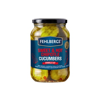 Fehlbergs Sweet & Hot Chipotle Cucumbers 470g