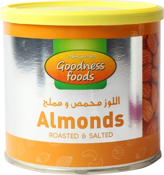 Goodness Foods Almond Roasted Salted(Tin) 250g