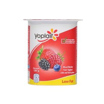 Yoplait Fruit Yoghurt Fresh & Light Low Fat Mix Berries 120g