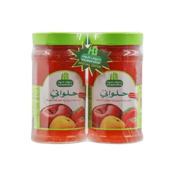 Halwani Jam Mixed Fruit 400g Pack of 2