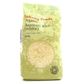Infinity Foods Organic White Basmati Rice 500g