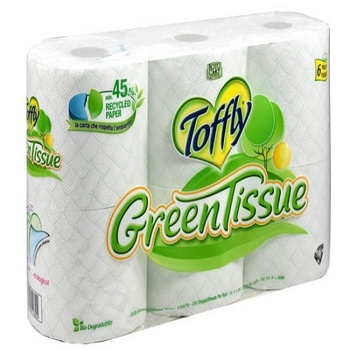 Toffly Green Toilet Papr 3Ply 6 Roll