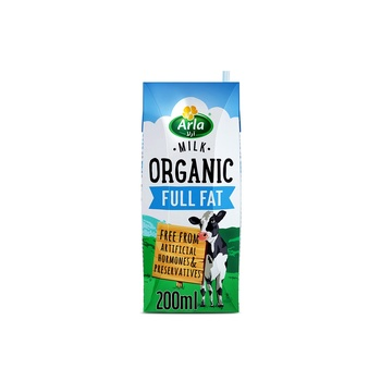 Arla Organic Full Fat Milk 200 ml