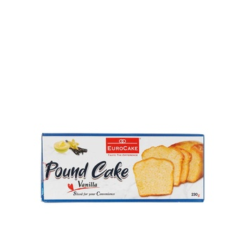 Eurocake Sliced Pound Cake Vanilla 230g