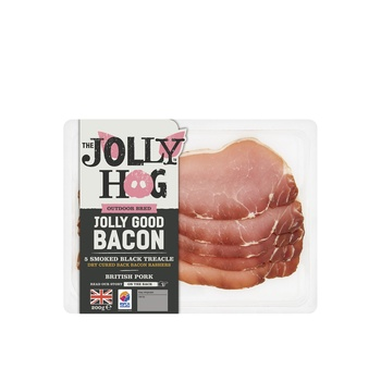 The Jolly Hog Back Cured Smoked Treacle Bacon 200g