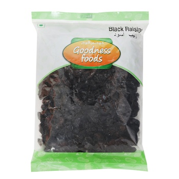 GOODNESS FOODS BLACK RAISINS - 250g