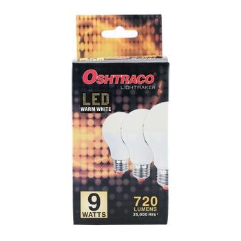 Oshtraco E27 Warm White LED Bulb- 9 Watt