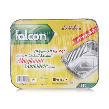 Falcon Aluminum Container with Lid - 10s