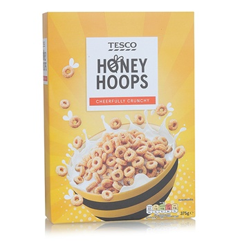 Tesco Honey Hoops Cereal 375g