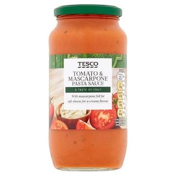 Tesco Tomato & Mascarpone Pasta Sauce 500g