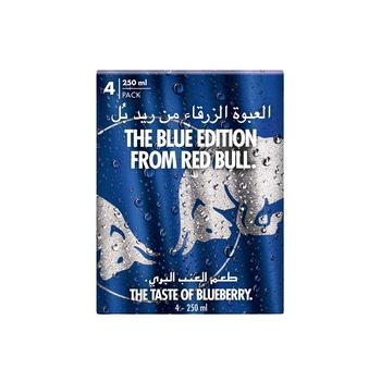 Red Bull Energy Drink, Blueberry, 4 x 250 ml
