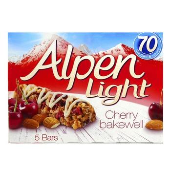 Alpen Breakfast Bar Light Cherry Bakewell 5 X 19g