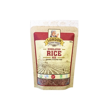 London Super Foods Organic Gluten Free Red Rice 500g