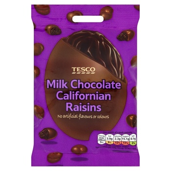 Tesco Milk Chocolate Californian Raisins 200g