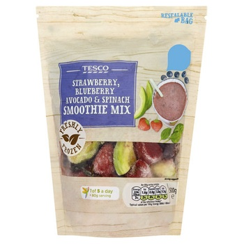 Tesco Superfood Smoothie Spinach, Mixed Berry & Avocado 500g