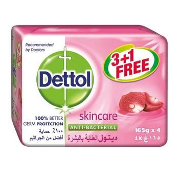Dettol Skin Care Anti Bacterial Bar Soap 4X165g @ 35% Off