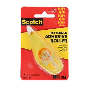 3M Scotch Star Patterned Adhesive Roller