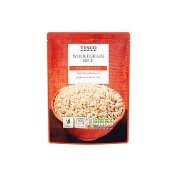 Tesco Microwave Whole Grain Rice 250g