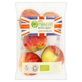 Tesco Organic British Apples 630g