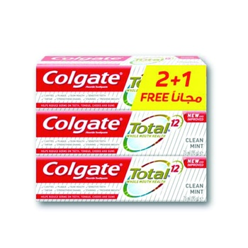 Colgate Toothpaste Total Clean Mint 3 x 75ml @ 33%