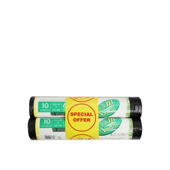 Samar bio degradable garbage bags roll 105 x 125cm 10's pack of 2