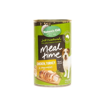 Natures Gift Dog Food Chicken, Turkey, Vegetables (can)700g