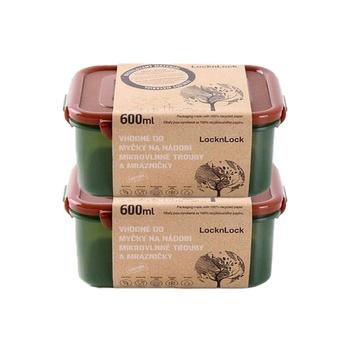 Lock & Lock Eco Container Rnd 600ml 2pcs Set