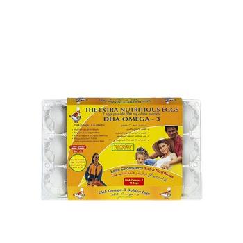 Al Jazira Dha Omega-3 Golden Eggs Brown / White 15pcs