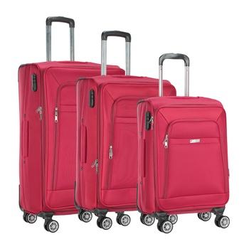 Voyager Trolley Bag 3P Set Red