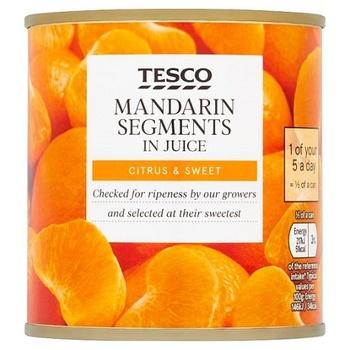 Tesco Mandarin Segents In Juice 298g