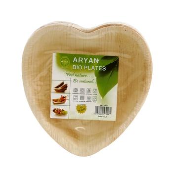 Aryan Bioplate 16cm Heart Shape 10pcs