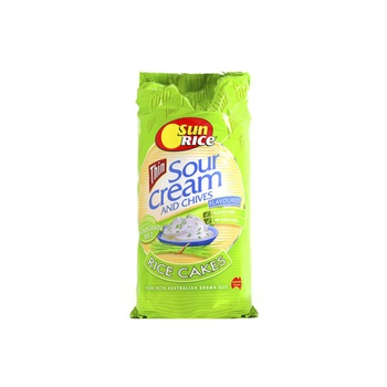 Sunrice Rice Cakes Sour Cream & Chives 195g
