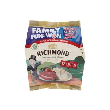 Richmond 12 Thick Sausages 554g