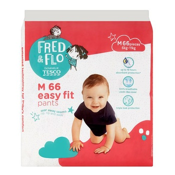 Tesco Fred & Flo Baby Pant M 66 Pieces