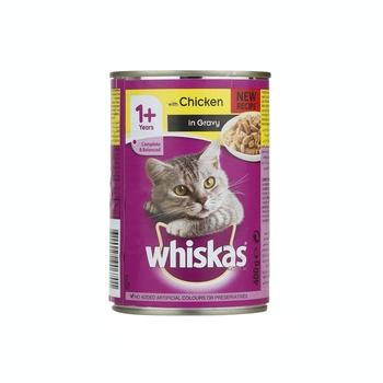 Whiskas Mince Chicken Wet Cat Food Can 400g
