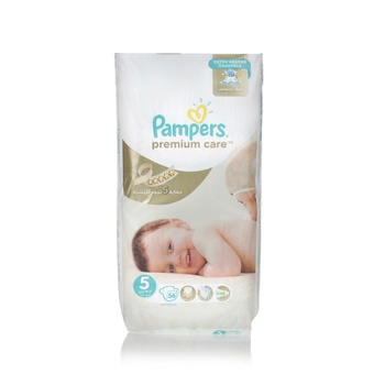 Pampers Premium Care Diapers  Size 5  Junior  11-18 kg  Jumbo Pack  56 Count