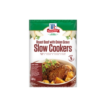 Mccormick Recipe Base Slow Cookers Roast Beef With Onion Gravy 40g