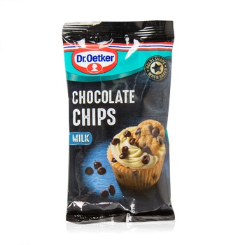 Dr. Oetker real milk chocolate chips 100g