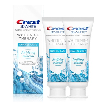 Crest 3D White Whitening Therapy Enamel Care 75ml Twin Pack