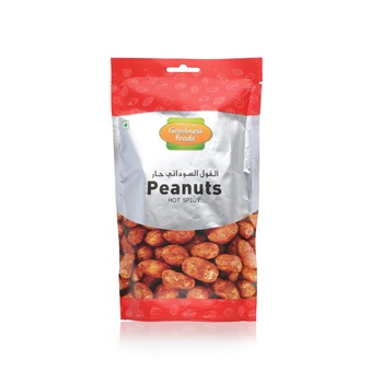 Goodness Foods Peanut Hot Spicy Sp 200g