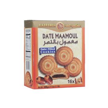 Al Karamah Date Maamoul Date Filled Cookies 500g
