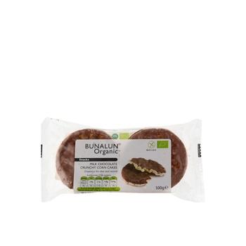 Bunalun Organic Snacks Milk Chocolate Crunchy Corn Cakes 95g